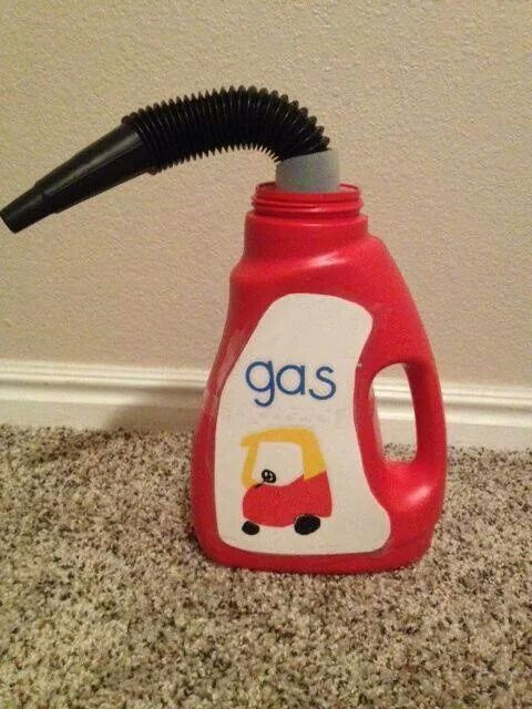 Make your own gas can for dramatic play