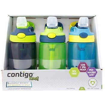 Contigo Kid's Water Bottle with AUTOSPOUT, 3-pack