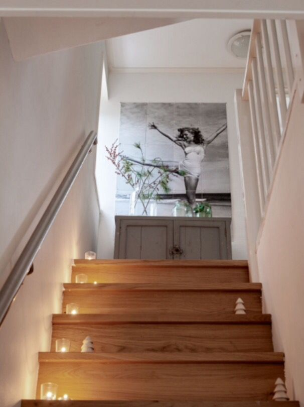 "This wooden stairway is from our feature ""White Christmas"""
