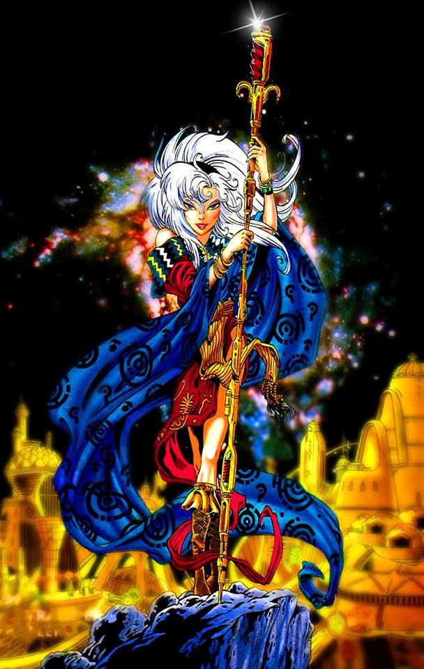 Never published #Elfquest art!  This is Wendy Pini's digital remake of David Boller's original cover art for Jink #1. www.elfquest.com