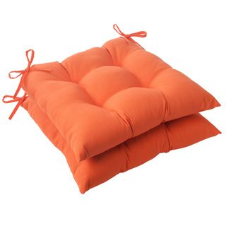 Pillow Perfect Orange Outdoor Seat Cushions (2)