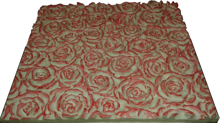 3D панель Розы. размер 480*500*45мм. гипс