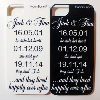 'He Stole Her Heart' Hard Phone Case. Available Colours: White, Silver, Black, Pink