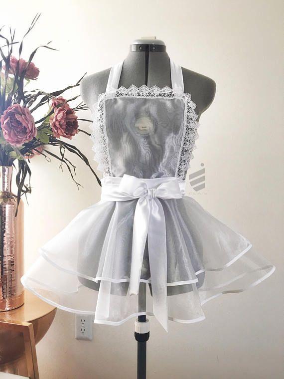 Lingerie, Bridal Shower Gift, Sexy Apron, Bridal Lingerie, Wedding Gift, Bachelorette Gift, Bridal Apron, Honeymoon Lingerie