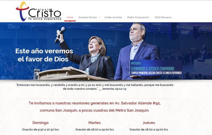 Sitio web www.ctue.cl para nuestro cliente  Iglesia Cristo tu Única Esperanza. Versión 2015.