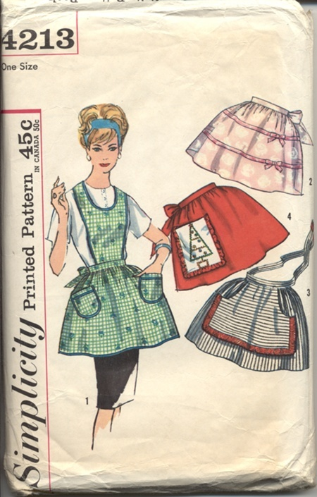 Simplicity4213: Apron Sewing Patterns, Aprons Sewing Patterns, Simplicity4213, Vintage Aprons, Vintage Patterns, Apron Patterns, Simplicity 4213, Aprons Patterns, 4213 Vintage
