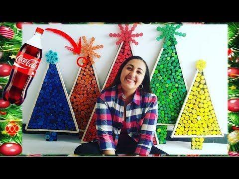 Árbol de Navidad con Material Reciclado (Manualidades para navidad fácil...