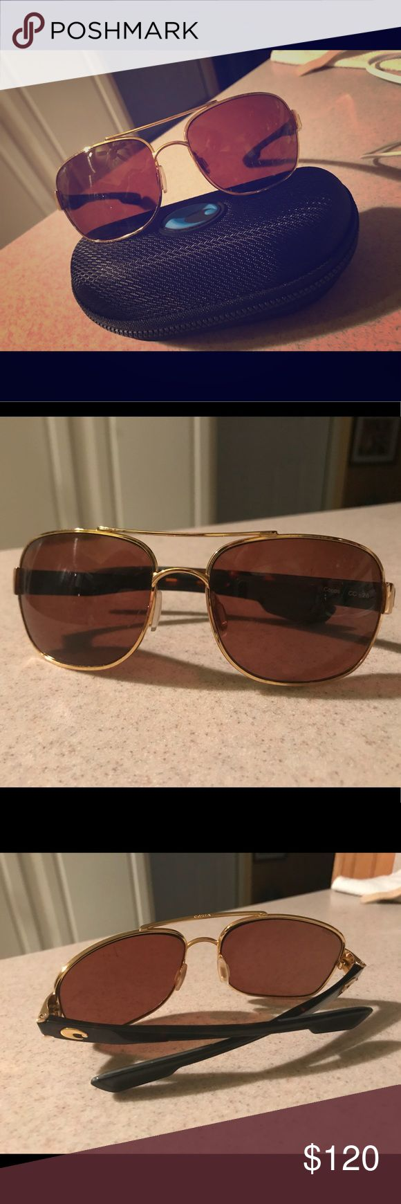 Costa Del Mar - Cocos Great polarized Costa sunglasses. Gold frame with amber lenses. Lightly worn. costa del mar Accessories Sunglasses