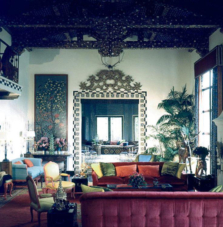 Pin By Chirine Khalaf On Home Interior: Tony Duquette Interior Design