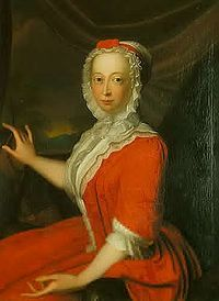 Anne, The Princess Royal (1709 - 1759). Daughter of King George II and Queen Caroline. She married William IV, Prince of Orange and had three children.