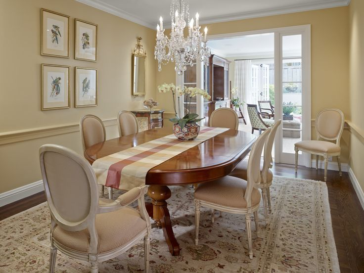 Traditional dining room design ideas with wall beige for Traditional dining room pinterest