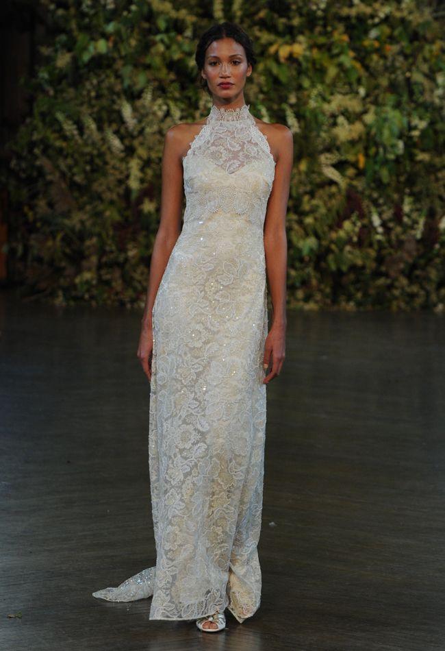 Halter Neck Lace Wedding Dress   Claire Pettibone Wedding Dresses Fall 2015   Kurt Wilberding   blog.theknot.com