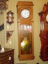 Large pinwheel jewelers regulator clock-EXCELLENT--13529