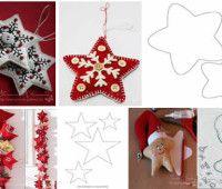 Moldes estrellas navideñas para imprimir gratis