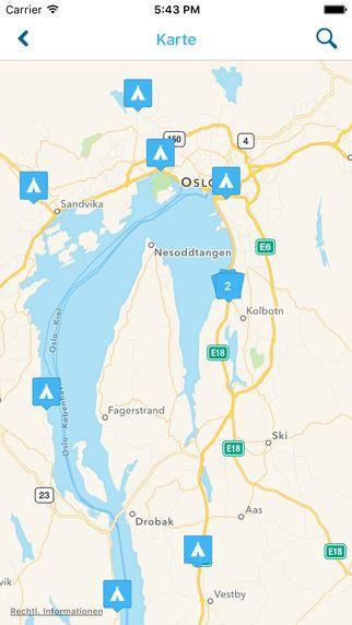 IOS Campingführer für Norwegen