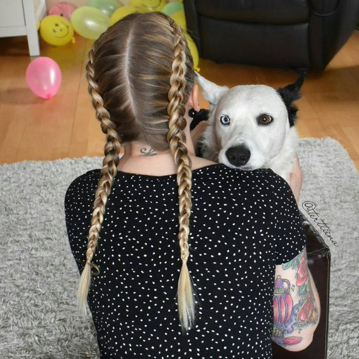 """Hair by @terttiina Instagramissa: """"Dutch braids on this beautiful blonde hair with dark roots! And she's holding this gorgeous…"""""""