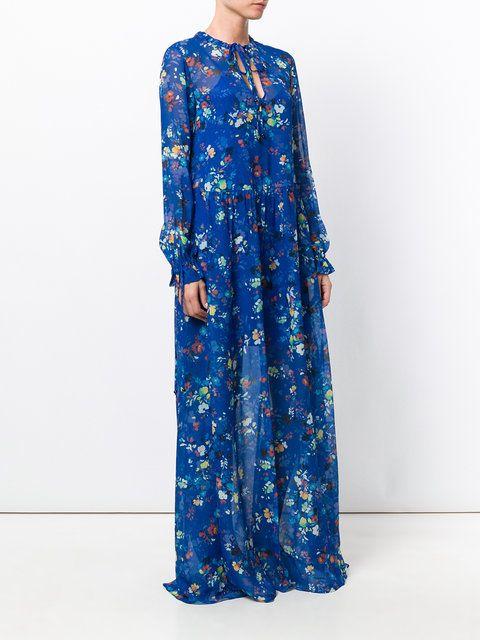 d811169a Twin-Set floral long flared dress | Fashion