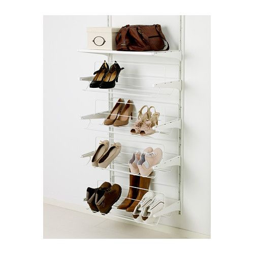 ALGOT Shoe organizer IKEA Just click the shoe organizer into ALGOT brackets for use in an ALGOT wall-mounted storage solution - no tools needed.