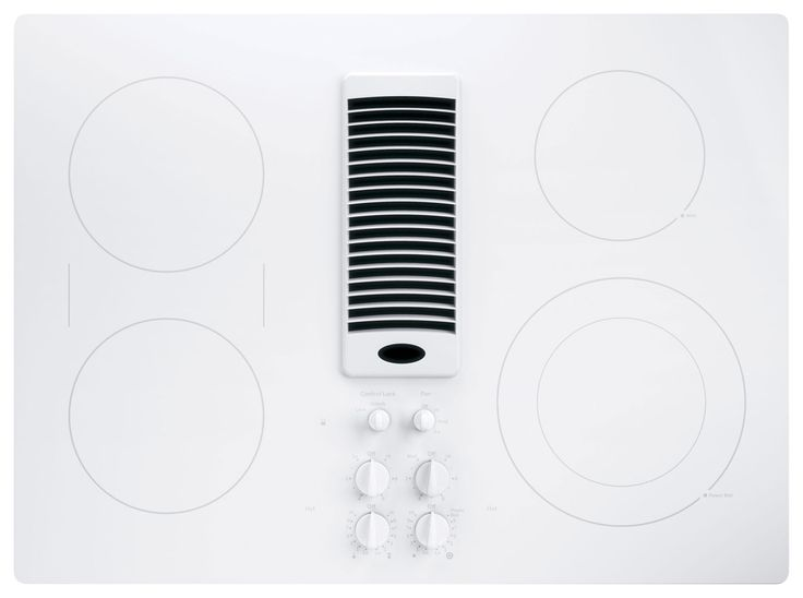 "GE - Profile Series 30"" Electric Cooktop - True White - Larger Front"
