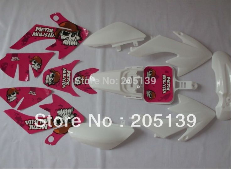 NEW CRF50 3M pink GRAPHICS KIT sticker & fairing sportster PLASTIC FOR honda cf MOTO parts DIRT PIT BIKE XR50 CRF50