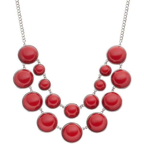 Bubble Necklace, Women's, Red (€16) ❤ liked on Polyvore featuring jewelry, necklaces, red, beaded jewelry, beading jewelry, party bead necklaces, party necklaces and red jewelry