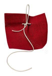 Portaconfetti Juta Colore Rosso