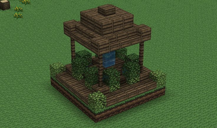 Small, Wood Fountain Minecraft Project                                                                                                                                                                                 More