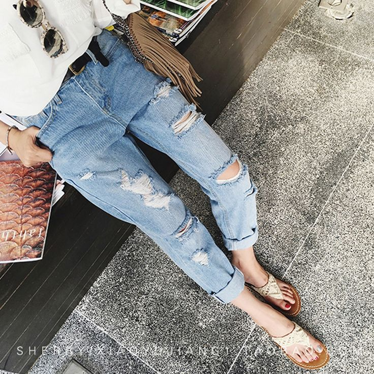 Find More Jeans Information about 2016 Summer High Waist Jeans Woman Skinny Ripped Jeans For Women Boyfriend Jeans For Women Ripped Jeans Female Femme J0008,High Quality jeans female,China jeans sewing Suppliers, Cheap jean dye from Loveliness Trade Co., Ltd on Aliexpress.com