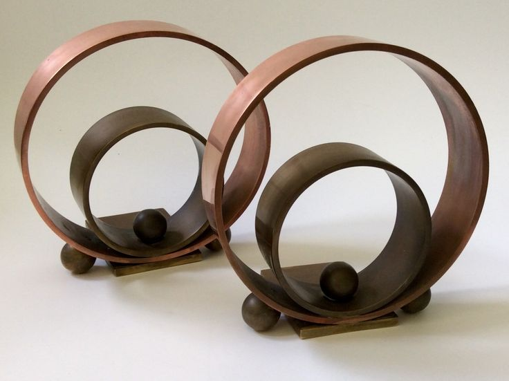 "Art Deco Copper and Brass ""Hoops & Balls"" Bookends, Walter Von Nessen for Chase c. 1936 by ArchetypeCollection on Etsy https://www.etsy.com/listing/270097729/art-deco-copper-and-brass-hoops-balls"