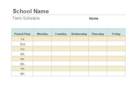 Weekly class schedule - Templates - Office.com