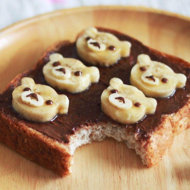 ヌテラとバナナが相性バッチリ!「チョコバナナリラックマトースト」を作ろう - macaroni