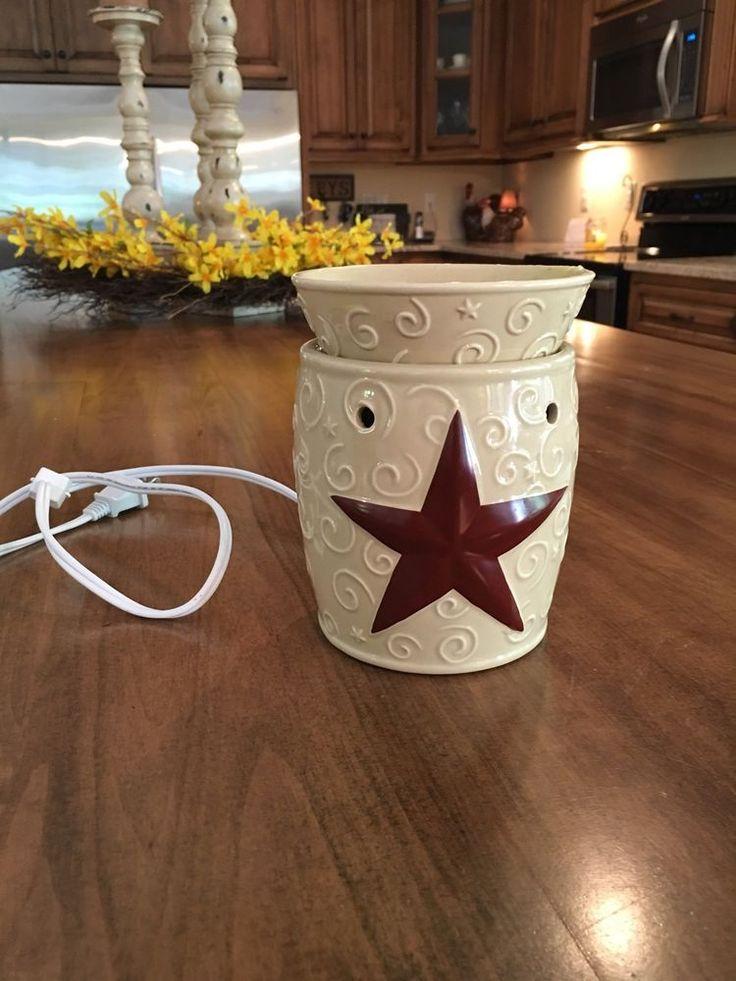 Scentsy Electric Tart Warmer Rustic Star Retired | eBay