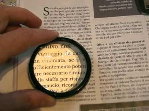 Lente da lettura mezza sfera in vetro di qualità