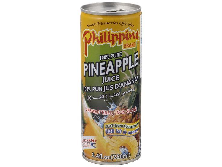 #Ananassap #Philippine Brand is beroemd vanwege zijn heerlijke vruchtensappen van de beste wereldberoemde Filipijnse mango´s, guaves en ananas. Het sap van dit merk smaakt zo lekker dat het lijkt alsof de verse vruchten zo in het glas geperst worden. Een puur vruchtengenot zonder kunstmatige toevoegingen.  #AsianFoodLovers