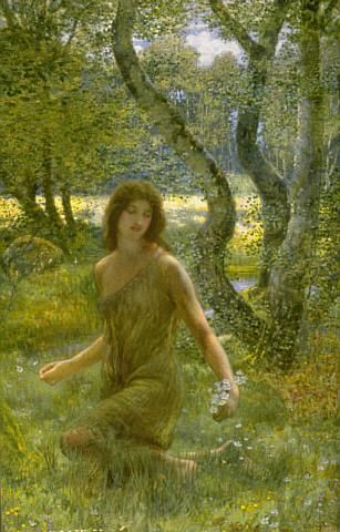 Edward Robert Hughes - PreRaphaelite - The Grass of Parnassus