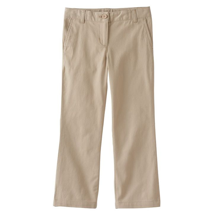 Girls 4-16 & Plus Size Chaps Twill Bootcut Pants, Size: 10 1/2, Med Beige