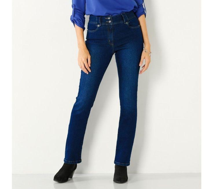 Rovné džínsy s vysokým pásom, pre nízku postavu | blancheporte.sk #blancheporte #blancheporteSK #blancheporte_sk #zimnákolekcia #zima