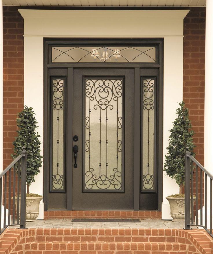 Belle meade decorative door glass swirls of wrought for Front door glass insert