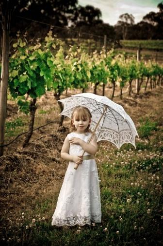 #Flowergirl with parasol #HunterValley #Wedding