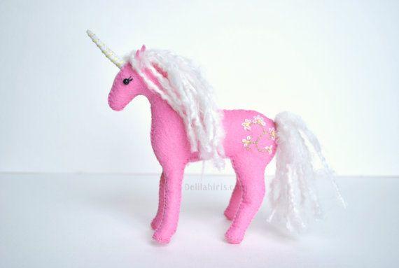 Hand Stitched Stuffed Unicorn Made To Order Felt Waldorf