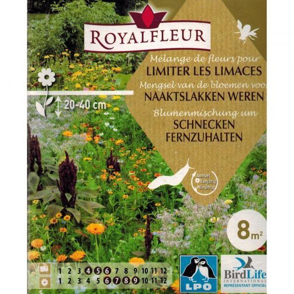Slakken weren in de tuin met planten die slakken haten: Verschillende geurende bloemen die er mede voor zorgen dat de naaktslakken weg blijven.  Verpakking goed voor ca. 8 m² aan bloeiende planten.  Inhoud: Borago officinalis (komkommerkruid), Anthriscus cerefolium (kervel), Tropaeolum majus nanum (Oostindische kers), Nigella damascena (juffertje in het groen), Calendula (goudsbloem), Tagetes patula (kleine afrikaan), Zinnia haageana (Mexicaanse zinnia), Achillea millefolium (duizendblad)…