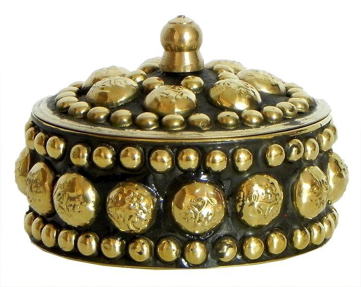 Brass Kumkum Container (Brass)