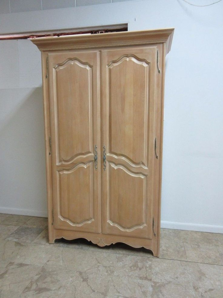 Ethan Allen Country French Bisque Wardrobe Chest Armoire Dresser