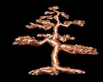 Alambre Bonsai escultura del árbol de alambreestilo