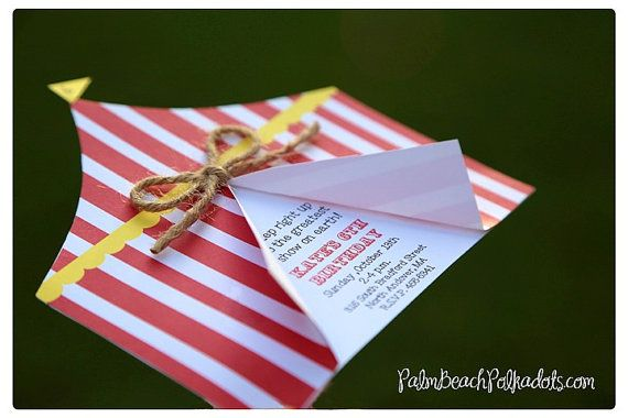 Carnival Birthday Circus Tent Invitation or by www.palmbeachpolkadots.com