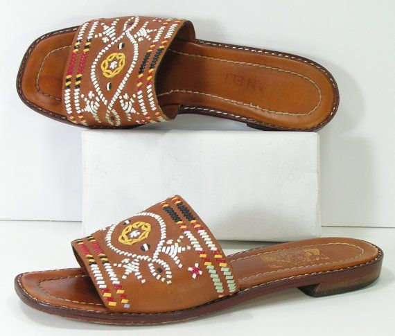 southwestern sandals womens 7.5 honey brown by cheapgrannyboots, $39.99