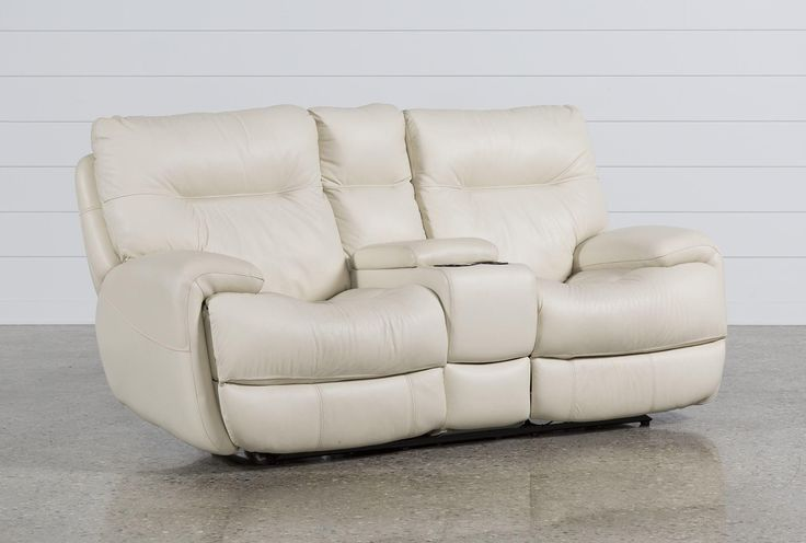 Oliver Ivory Power Reclining Loveseat W/Console
