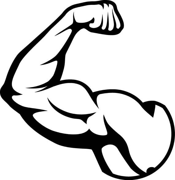 Bicep Muscles Fit Weightlifting Bodybuilding Fitness Workout Gym Download Free Best Quality On Clipart Email Bicep Muscle Bodybuilding Logo Gym Weights