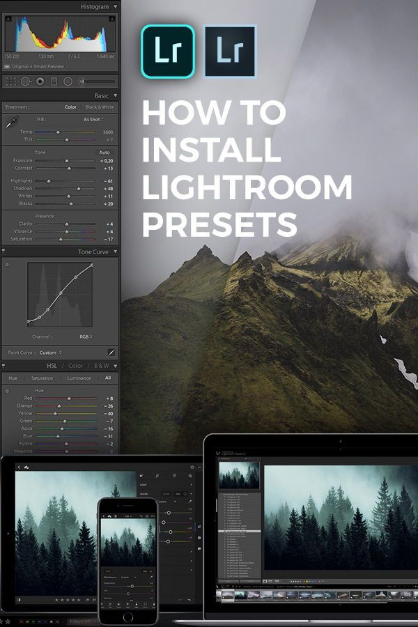 How to install lr presets