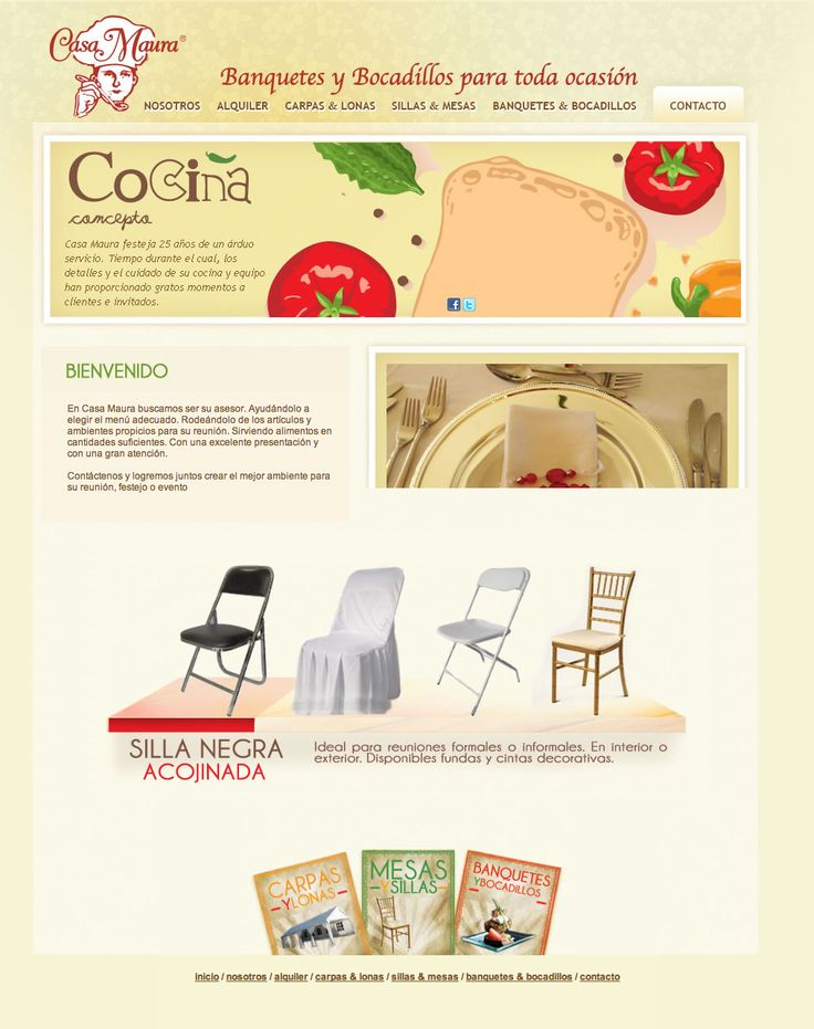 Web design. Digital communication. Casa Maura. http://casamaura.mx
